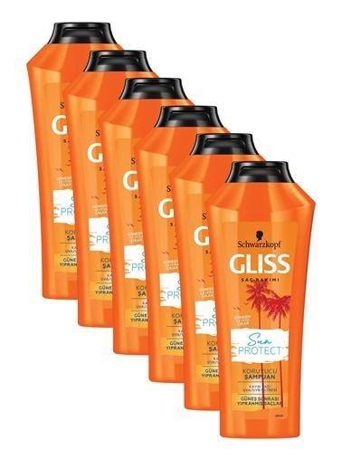 Gliss Sun Protect Güneşe Karşı Koruyucu Şampuan 360 Ml 6'Lı Renksiz